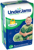 Under Jams Pampers UnderJams Bedtime Underwear Boys Size L/XL 11 count