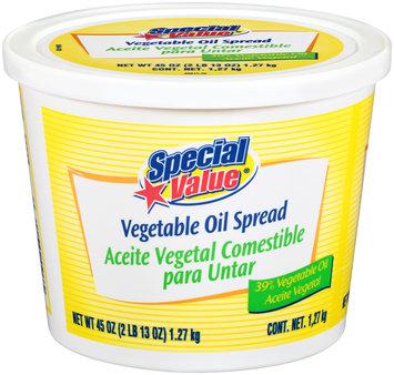 Special Value® Vegetable Oil Spread 45 oz. Tub