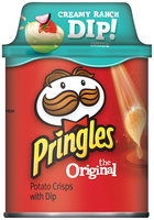 Pringles® Original Potato Crisps with Creamy Ranch Dip