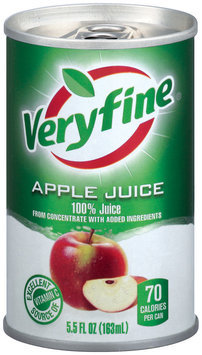 Veryfine Apple from Concentrate W/Added Ingredients 100% Juice 5.5 Oz Can