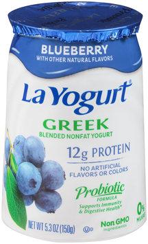 La Yogurt® Blueberry Greek Blended Nonfat Yogurt 5.3 oz. Cup