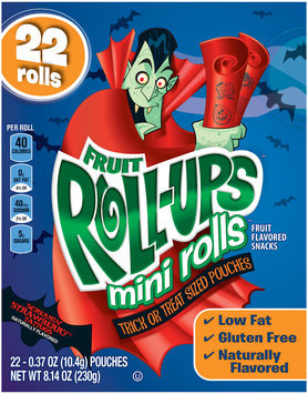 Fruit Roll-Ups™ Mini Rolls Screamin' Strawberry Tattoos Fruit Flavored Snacks
