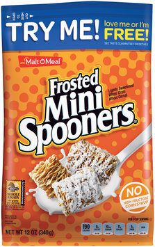 Malt-O-Meal® Frosted Mini Spooners® Lightly Sweetened Whole Grain Wheat Cereal 12 oz. Pack