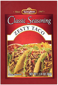 Springfield® Classic Seasoning Zesty Taco 1.25 oz. Packet
