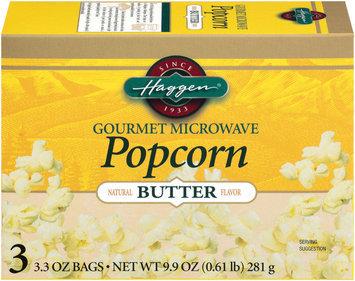 Haggen Gourmet Butter 3.3 Oz Bags Microwave Popcorn 3 Ct Box