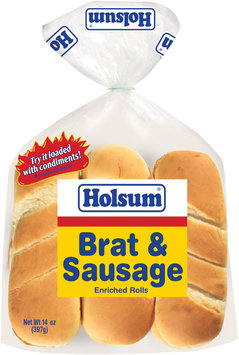 Holsum® Brat & Sausage Enriched Rolls 6 ct Bag