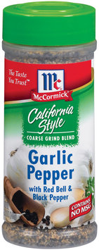 Dry Onion & Garlic W/Red Bell & Black Pepper California Style Garlic Pepper 5.12 Oz Shaker