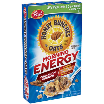 Honey Bunches of Oats Morning Energy Cinnamon Cereal