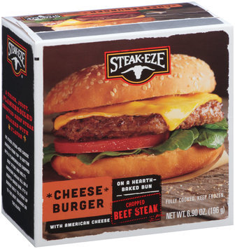 Steak-Eze® Cheese Burger with American Cheese 6.90 oz. Box