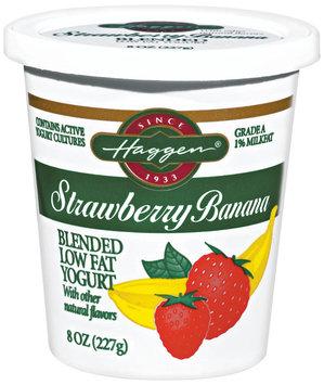 Haggen Strawberry Banana Blended Low Fat Yogurt 8 Oz Cup