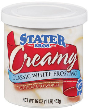 Stater Bros. Classic White Frosting Creamy Frosting 16 Oz Tub