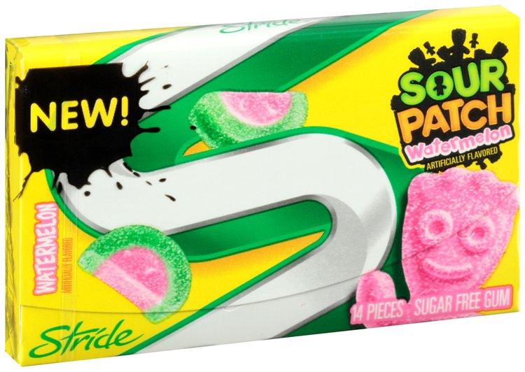 Stride Sour Patch Watermelon Sugar Free Gum