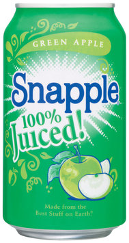 Snapple Green Apple 100% Juiced Flavors 11.5 Oz Can
