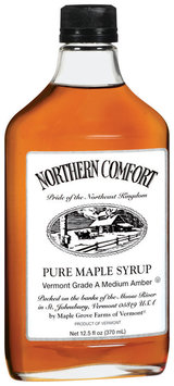 Northern Comfort Pure Maple Medium Amber Syrup 12.5 Oz Glass Bottle