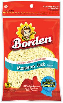 Borden Finely Shredded Monterey Jack Cheese 8 Oz Peg