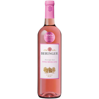 Beringer® Pink Moscato Wine 750mL Glass Bottle