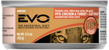 Evo® 95% Chicken & Turkey Cat Food 5.5 oz. Can
