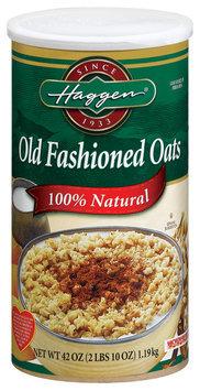 Haggen Old Fashioned 100% Natural  Oats 42 Oz Cylinder