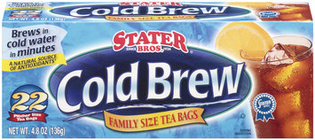 Stater Bros. Cold Brew Family Size Tea Bags 22 Ct Box