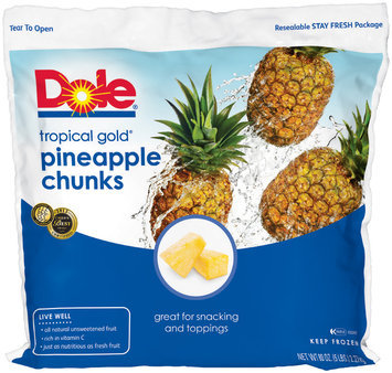 Dole® Tropical Gold Pineapple Chunks 80 oz. Bag