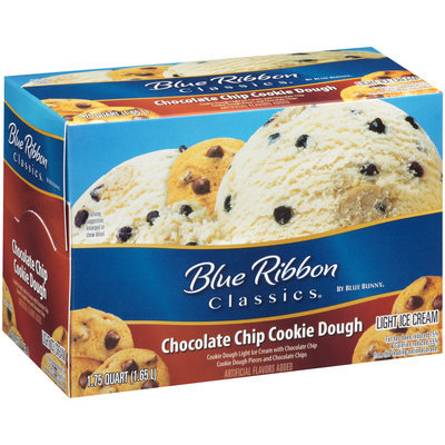 Blue Bunny® Blue Ribbon Classics® Chocolate Chip Cookie Dough Light Ice Cream 1.75 qt. Carton