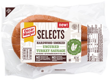 Oscar Mayer Selects Hardwood Smoked Uncured Turkey Sausage 13 oz. Pack
