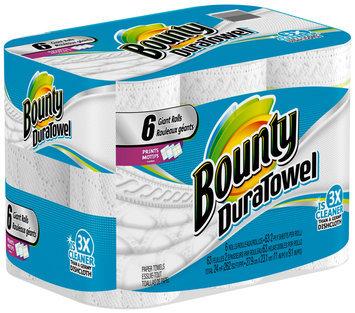 DuraTowel Bounty DuraTowel Paper Towels, Prints, 6 Giant Rolls