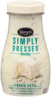 Marzetti® Simply Dressed Greek Feta Dressing 12 fl. oz. Jar