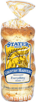 Stater Bros.® Country Harvest® Everything Bagels 6 ct.