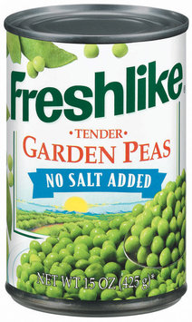 Freshlike Tender Garden No Salt Added Peas 15 Oz Can
