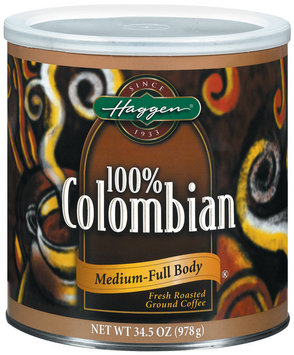 Haggen 100% Colombian Medium-Full Body Coffee 34.5 Oz Canister