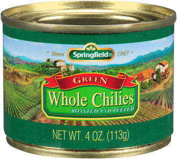 Springfield® Whole Green Chilies 4 oz. Can