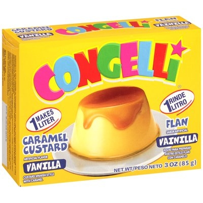 Congelli® Vanilla Caramel Custard Flan 96 ct Corrugated Display