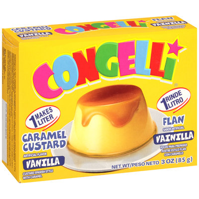 Congelli® Vanilla Caramel Custard Flan 96 ct Corrugated Display
