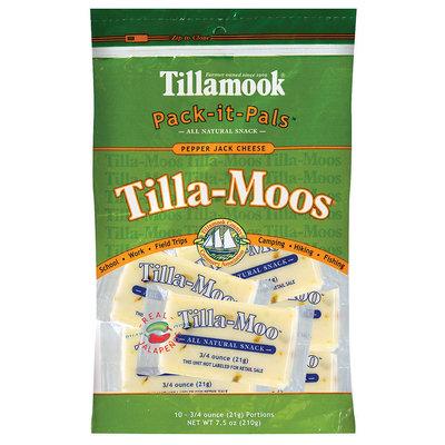Tillamook Pack-It-Pals Tilla-Moos Pepper Jack 10 Ct Cheese 7.5 Oz Peg