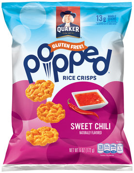 Quaker® Popped® Sweet Chili Rice Crisps 6 oz. Bag