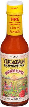 Try Me® Yucatan Sunshine Habanero Pepper Sauce 5 fl. oz. Bottle
