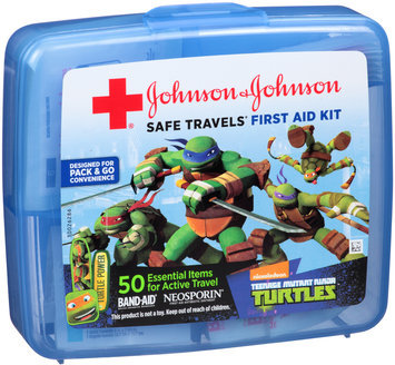 Johnson & Johnson Safe Travels® Nickelodeon™ Teenage Mutant Ninja Turtles™ First Aid Kit Case