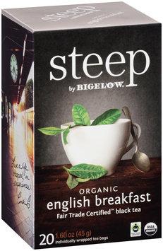 Steep by Bigelow® Organic English Breakfast Fair Trade Certified Black Tea Bags 20 ct. Bags