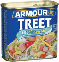 Armour Treet Lite 50% Less Fat Luncheon Loaf 12 Oz Can