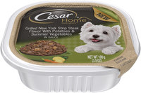 Cesar® Home Delights™ Grilled New York Strip Steak Flavor with Potatoes & Summer Vegetables in Sauce Canine Cuisine 3.5 oz. Cup