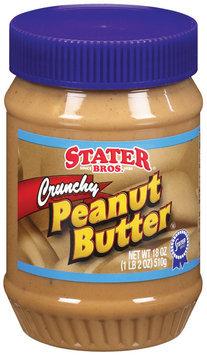 Stater Bros. Crunchy Peanut Butter 18 Oz Plastic Jar