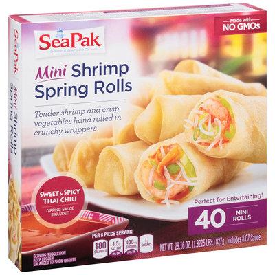 SeaPak® Shrimp & Seafood Co. Mini Shrimp Spring Rolls 29.12 oz. Box