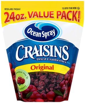Ocean Spray® Craisins® Original Dried Cranberries 24 oz. Bag