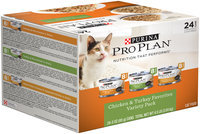 Purina Pro Plan Chicken & Turkey Favorites Variety Pack Adult Cat Food 24-3 oz. Cans
