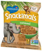 Barbara's® Snackimals™ Oatmeal Cookies 1 oz. Bag