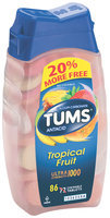 Tums® Ultra Strength 1000 Assorted Tropical Fruit Antacid/Calcium Supplement Tablets 86 ct Bottle