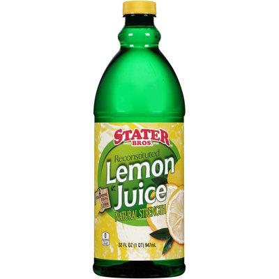 Stater Bros.® Reconstituted Lemon Juice 32 fl. oz. Plastic Bottle