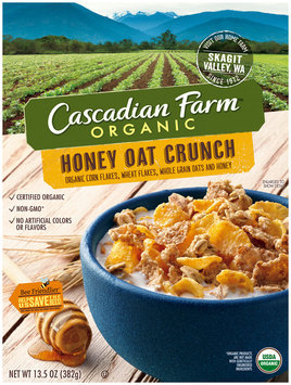 Cascadian Farm® Organic Honey Oat Crunch Cereal 13.5 oz. Box