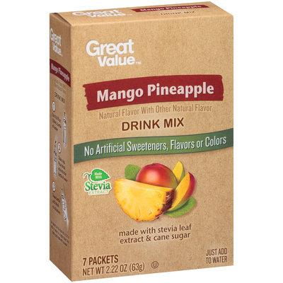 Great Value™ Mango Pineapple Drink Mix 2.22 oz. Box